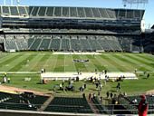 Oakland Raiders Seat View for RingCentral Coliseum Section 218