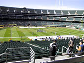 Oakland Raiders Seat View for RingCentral Coliseum Section 245
