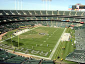 Oakland Raiders Seat View for RingCentral Coliseum Section 303