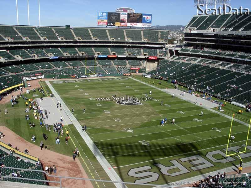 Oakland Coliseum Section 309 - Oakland Raiders ...