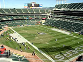 Oakland Raiders Seat View for RingCentral Coliseum Section 310