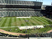 Oakland Raiders Seat View for RingCentral Coliseum Section 319