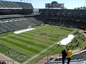 Oakland Raiders Seat View for RingCentral Coliseum Section 324