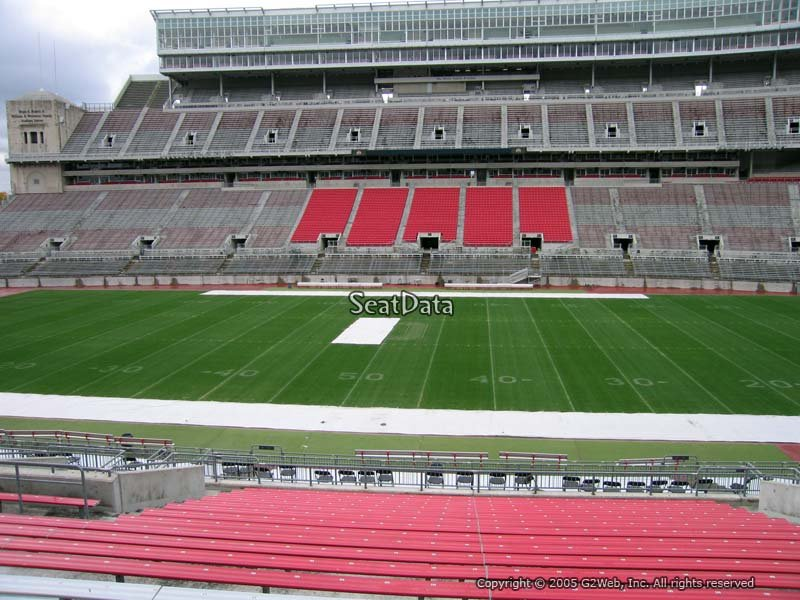 Seat View For Ohio Stadium Section 20a