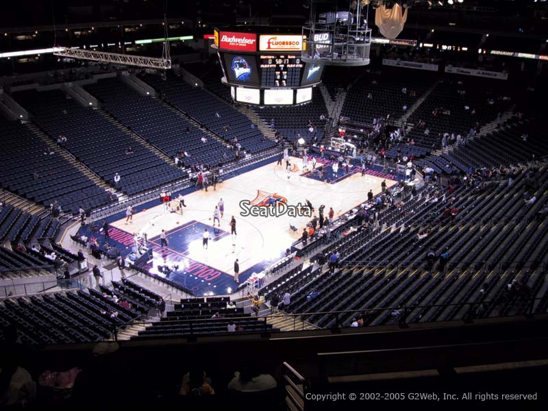 Oracle Arena Section 205 View