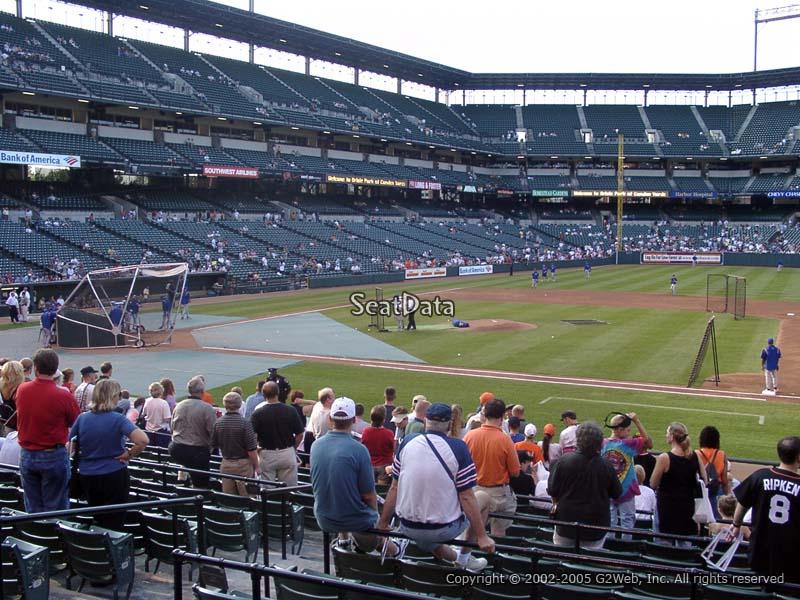 Oriole Park Section 18 Rateyourseats Com