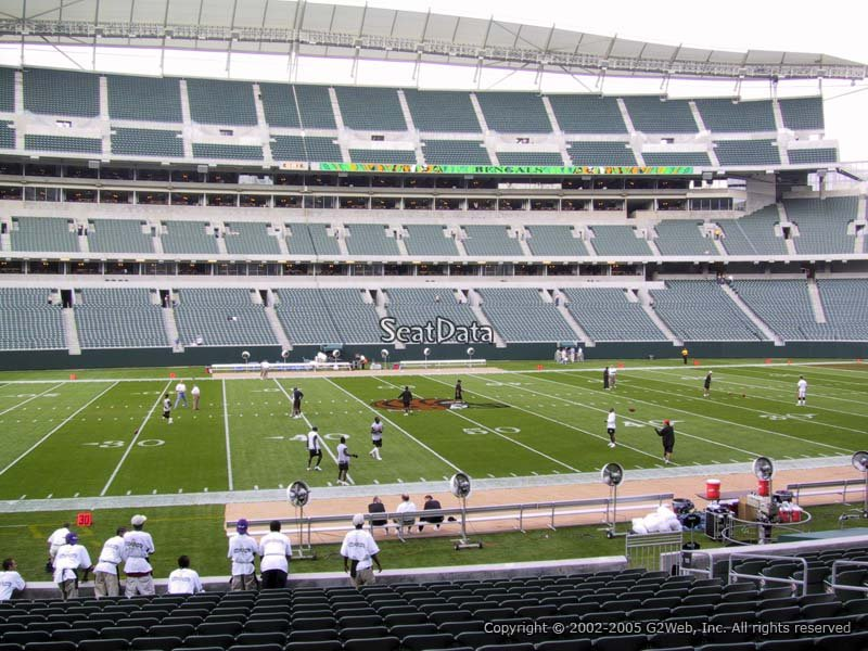 Seat View for Paul Brown Stadium Section 111