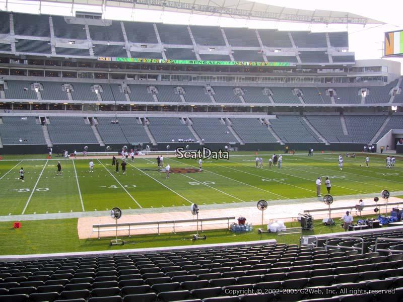 Paul Brown Stadium Section 141 Rateyourseats Com