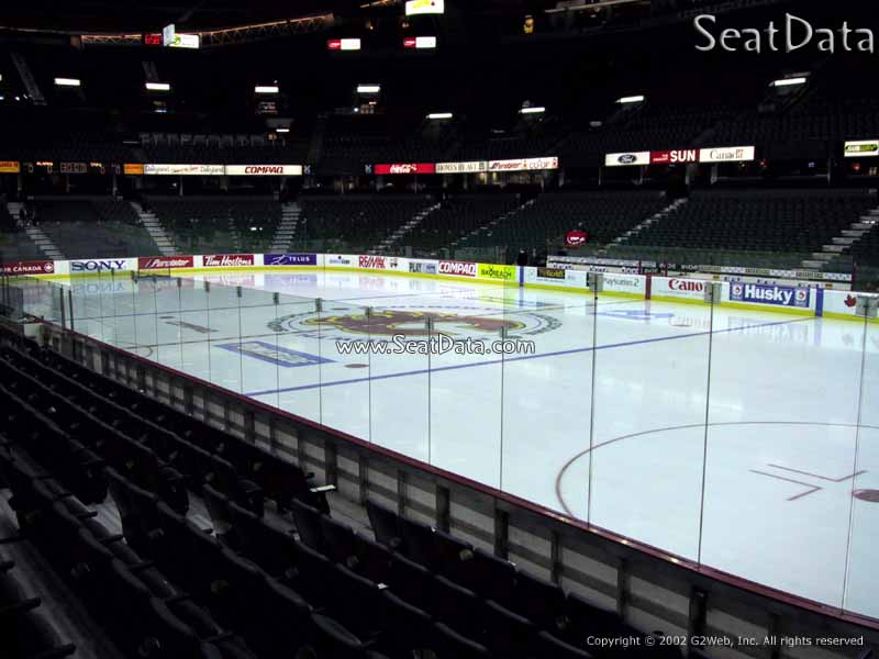 Lower Level Corner Scotiabank Saddledome Hockey Seating