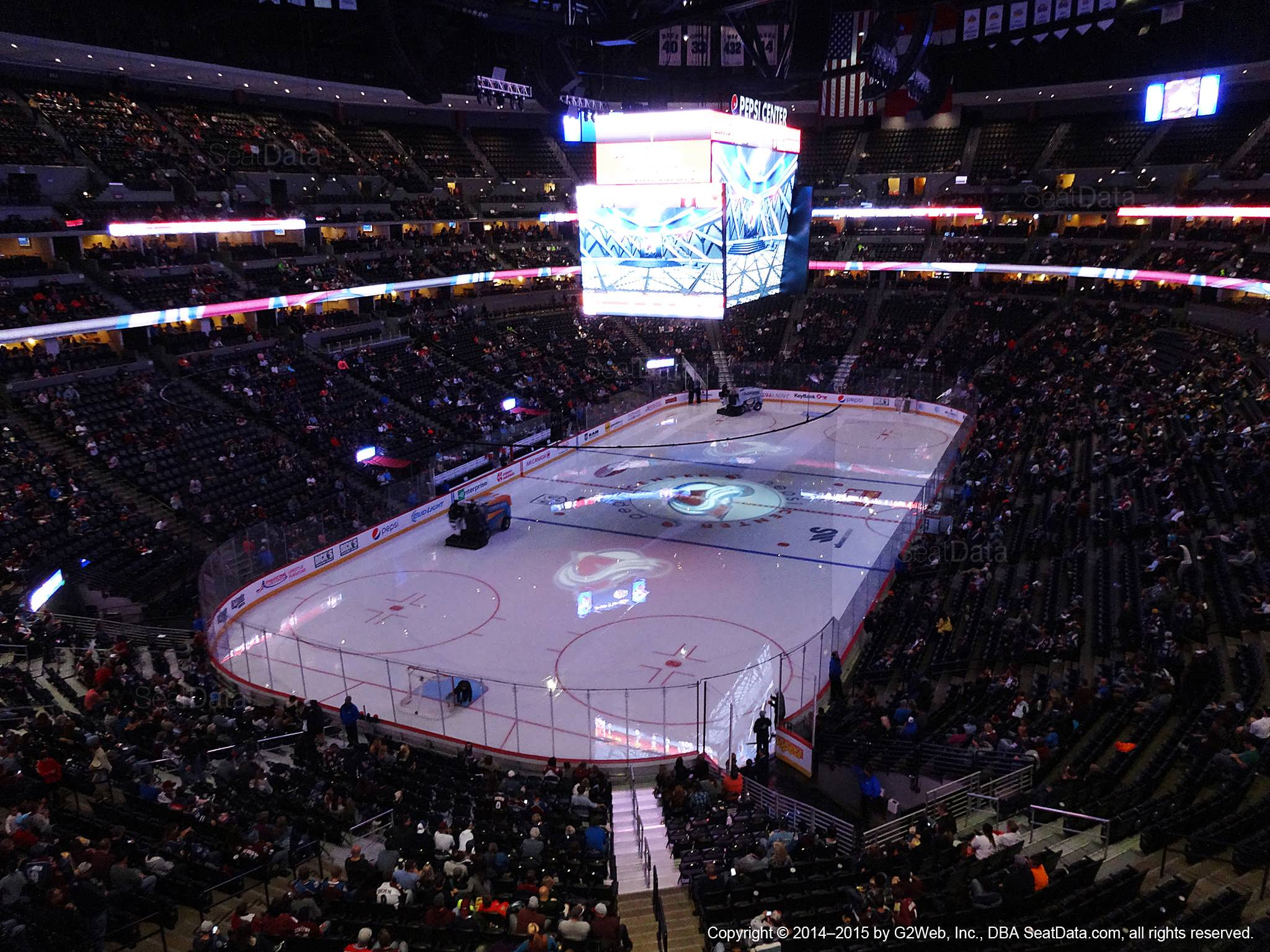 Pepsi Center Section 357 - Colorado Avalanche ...