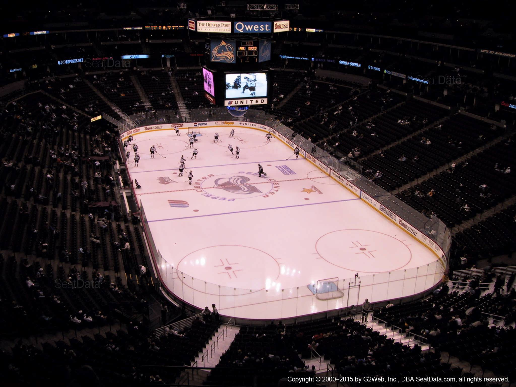 Pepsi Center Section 366 View