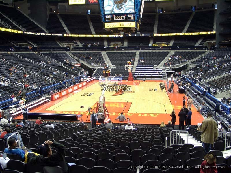 philips arena section 109 - atlanta hawks