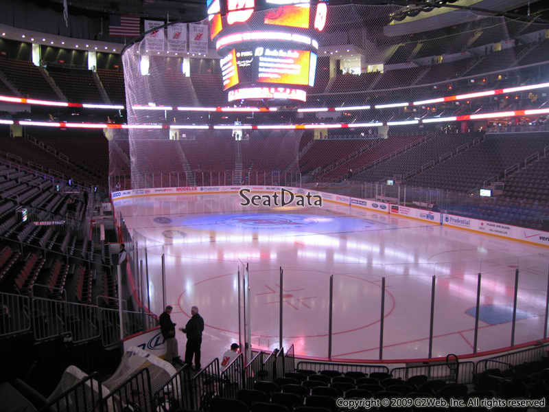 New Jersey Devils Seat View for Prudential Center Section 12