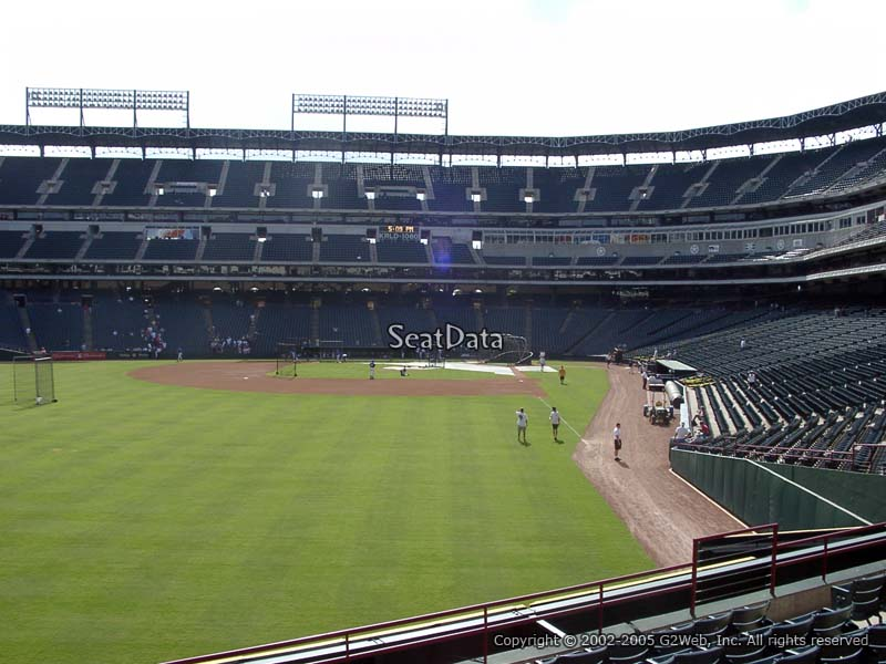 Rangers Ballpark Section 8 View