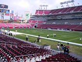 Seat View for Raymond James Stadium Section 118
