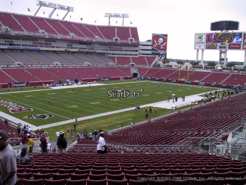 Seat View for Raymond James Stadium Section 203