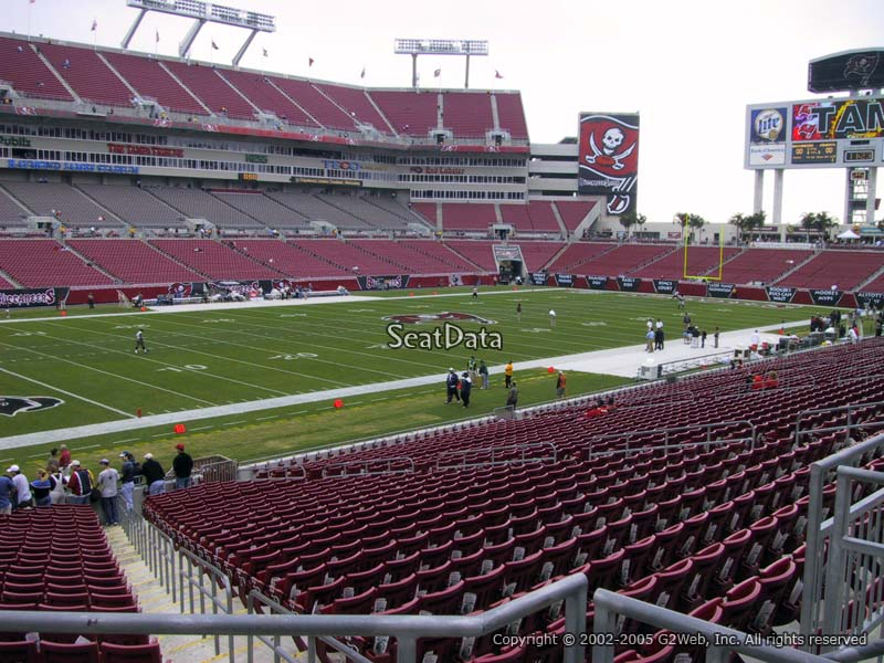 Seat View for Raymond James Stadium Section 205
