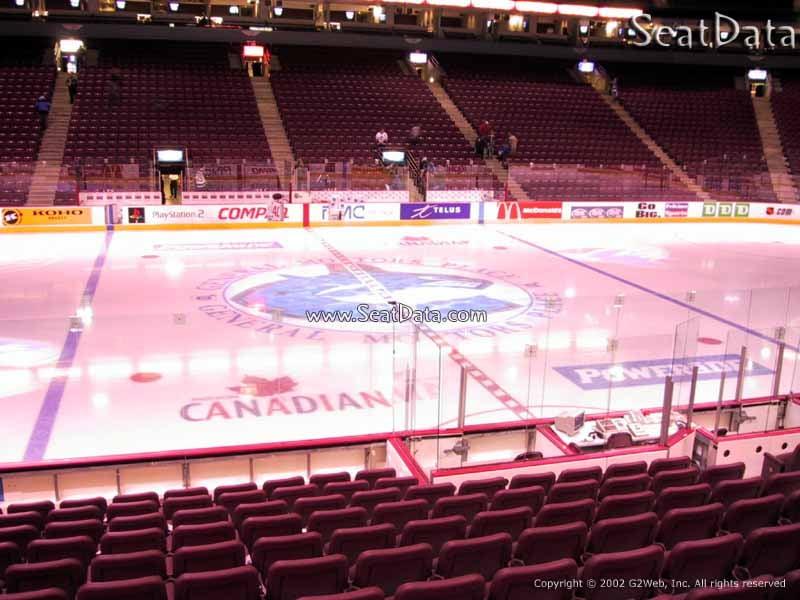 Plaza Level Center Rogers Arena Hockey Seating