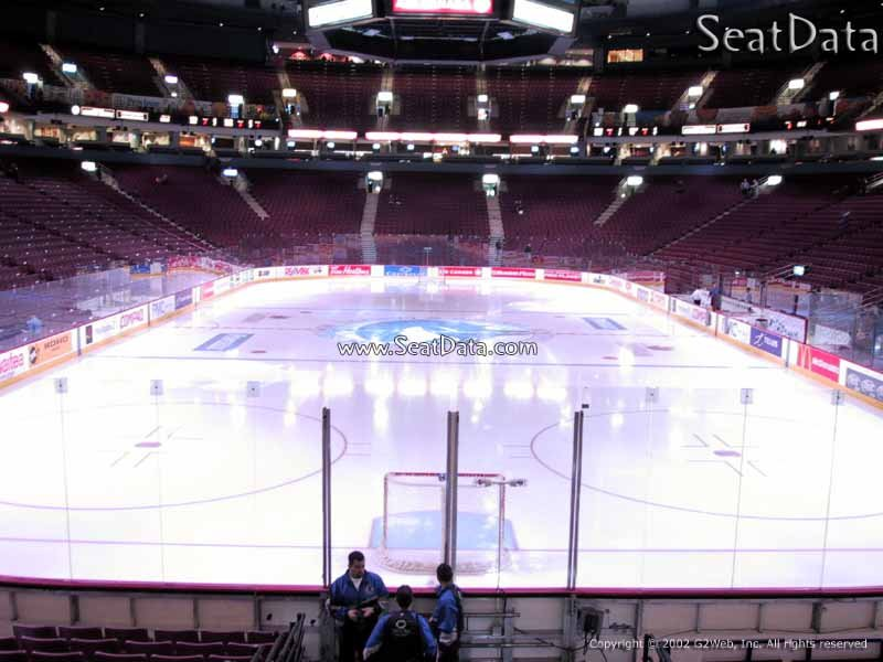View from Section 122 at Rogers Arena