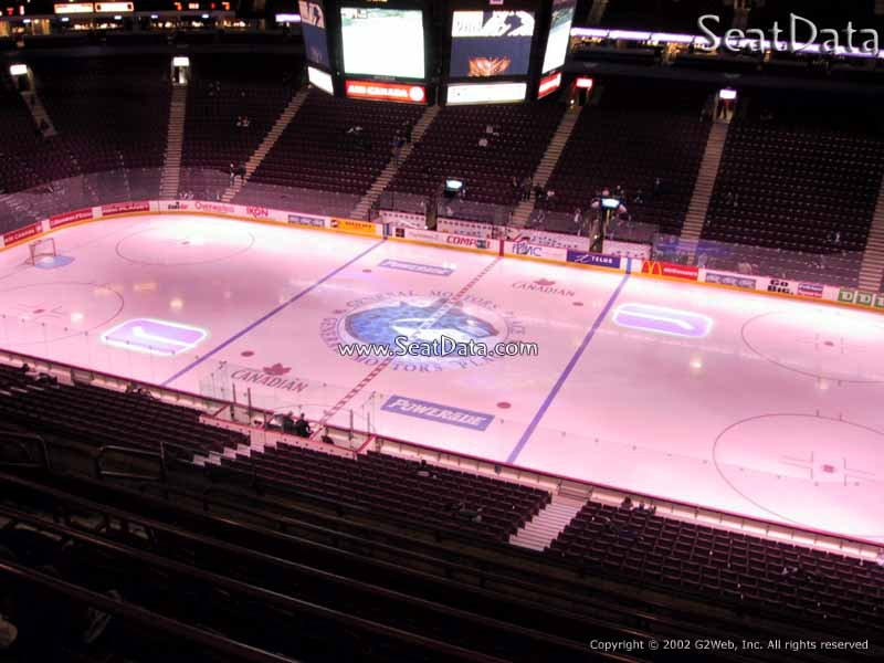Rogers Arena Section 306 Seat View