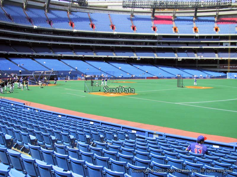 Rogers Centre Section 114 Seat View