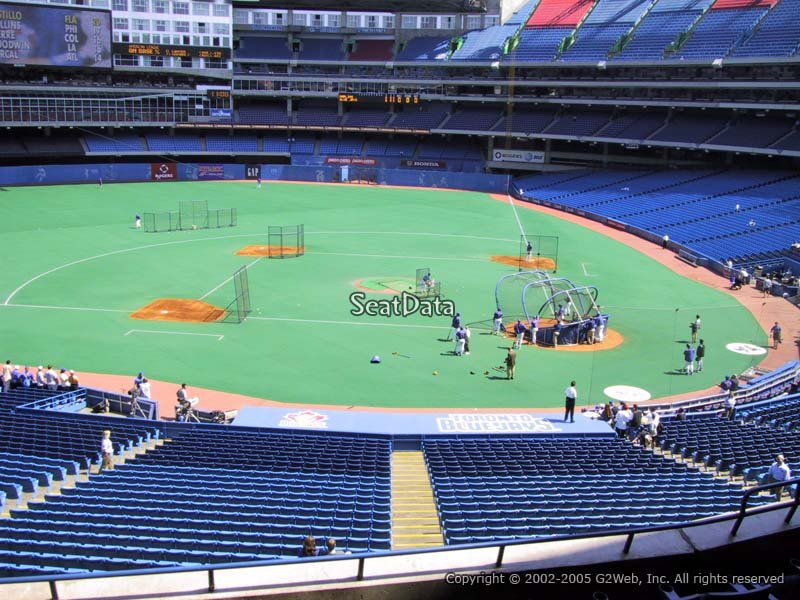 View from Section 228 at Rogers Centre