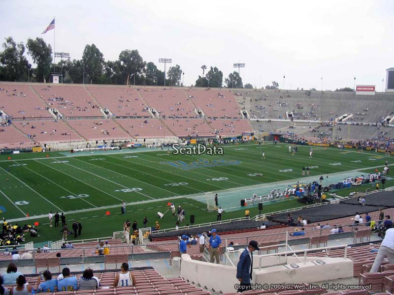 View from Section 16 at Rose Bowl Stadium