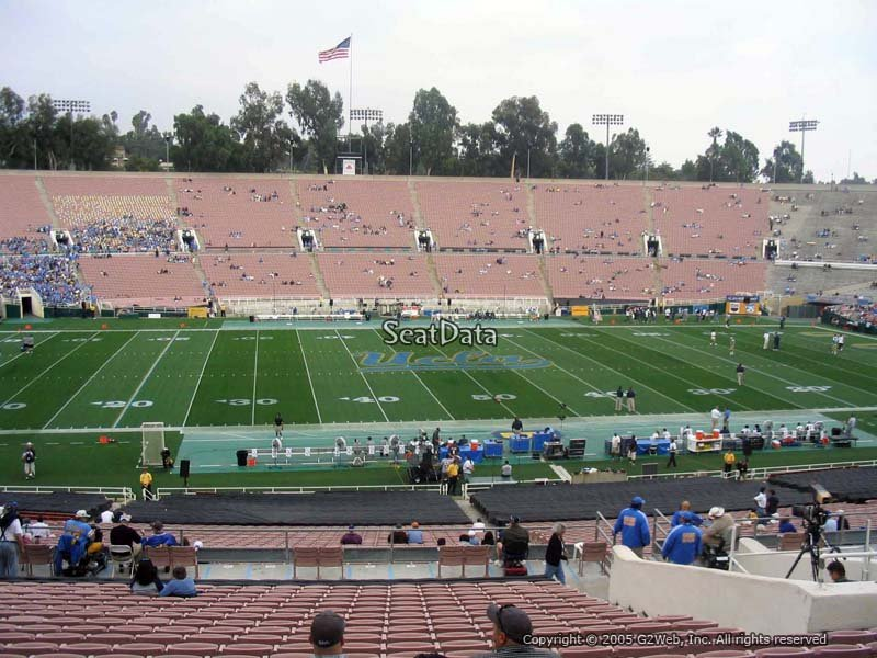 Rose bowl stadium section 18 ucla football rateyourseats com