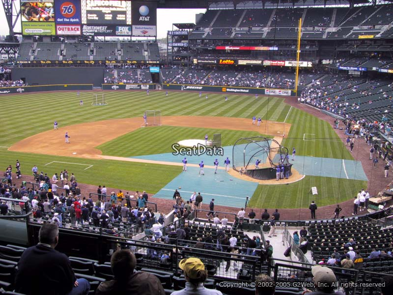 How Many Seats In A Row Section 233 At Safeco Field