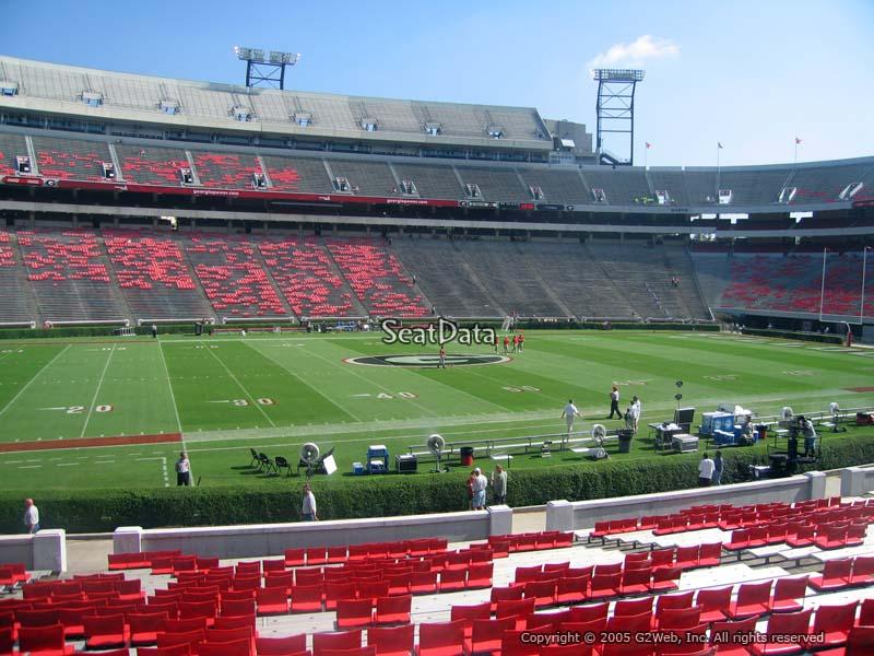 Sanford Stadium Section 133 Seat Views Seatscore