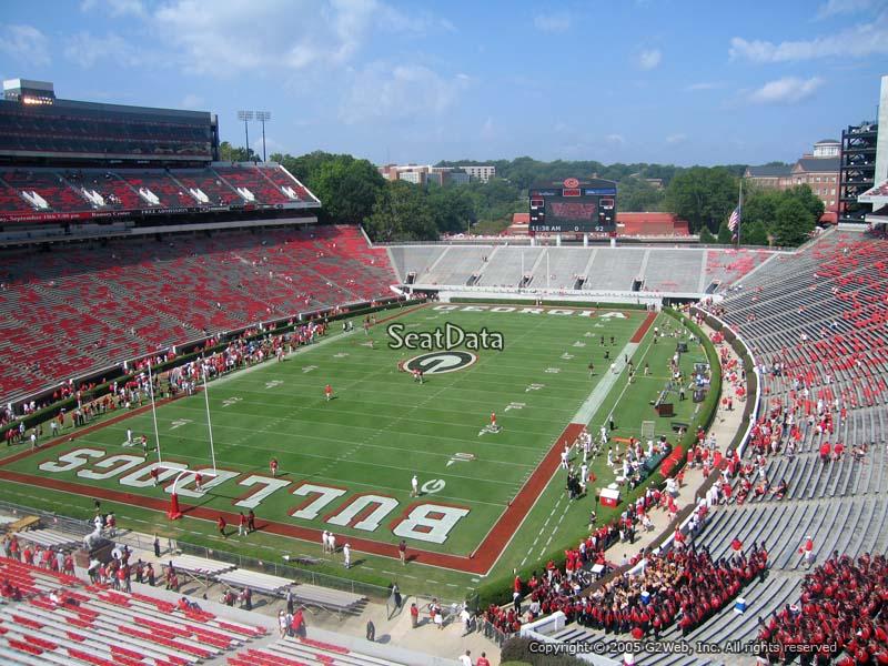 Sanford Stadium Section 215 Rateyourseats Com