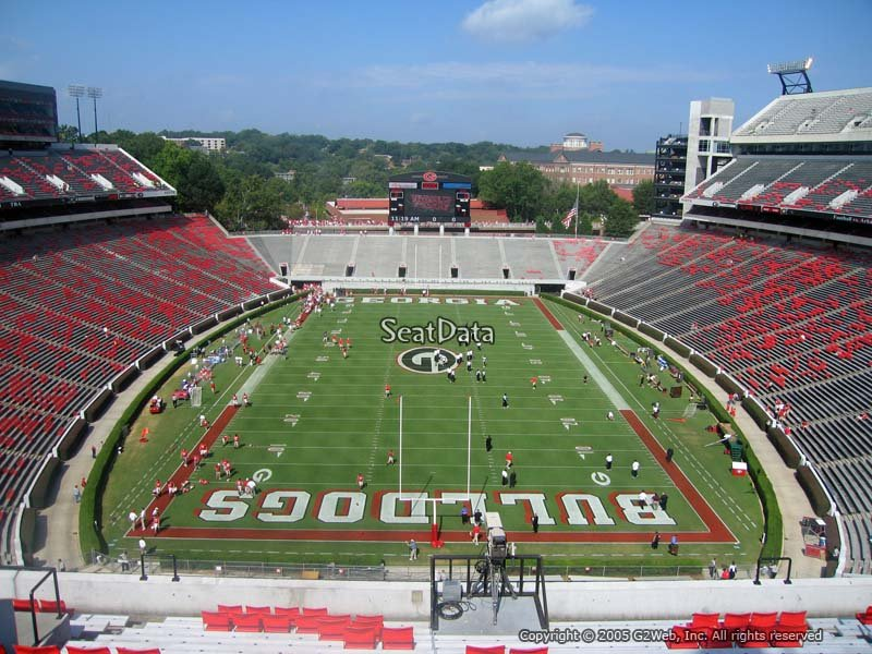 Sanford Stadium Section 319 Rateyourseats Com