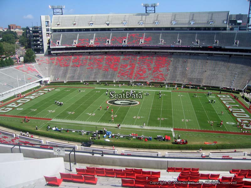 View from Section 330 at Sanford Stadium