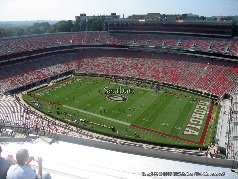 Sanford Stadium Section 603 Rateyourseats Com