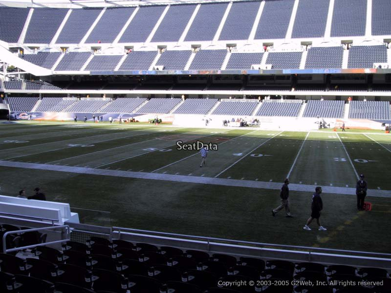 View from Section 107 at Soldier Field