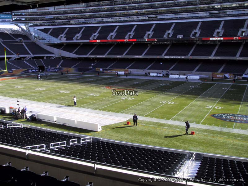 what is media deck at soldier field