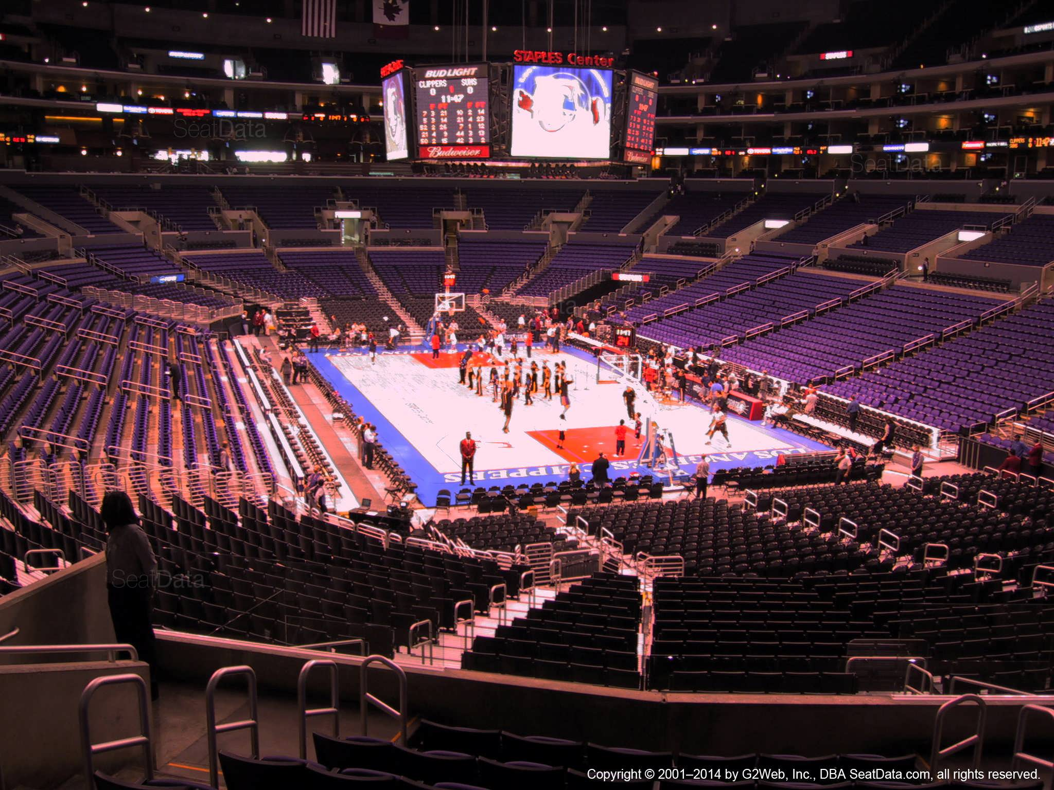Staples Center Section 209 Clippers Lakers