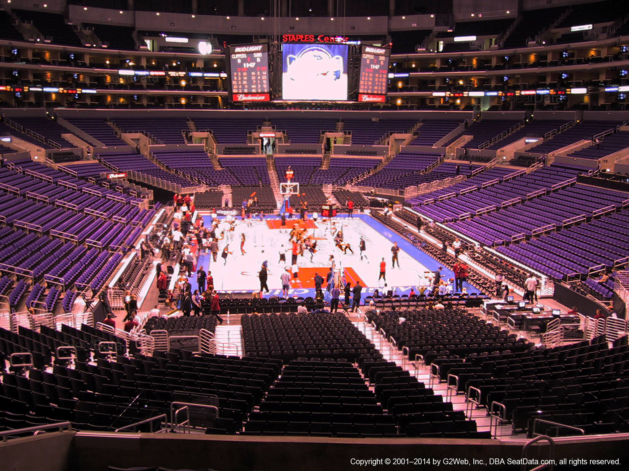 Staples Center Section 217 Clippers Lakers