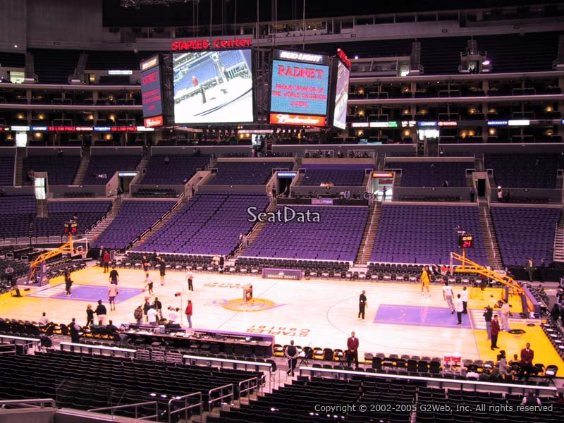 Staples Center Section 110 Seat Views Lakers game