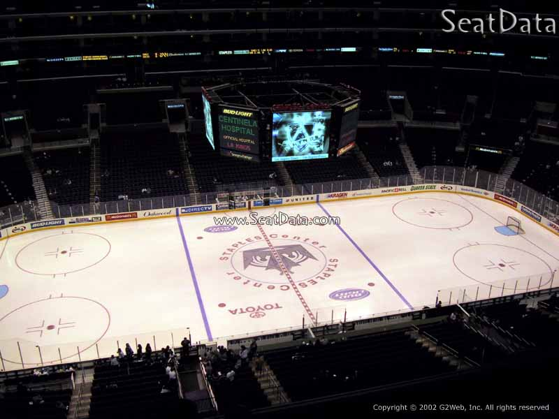 View from Section 302 at Staples Center