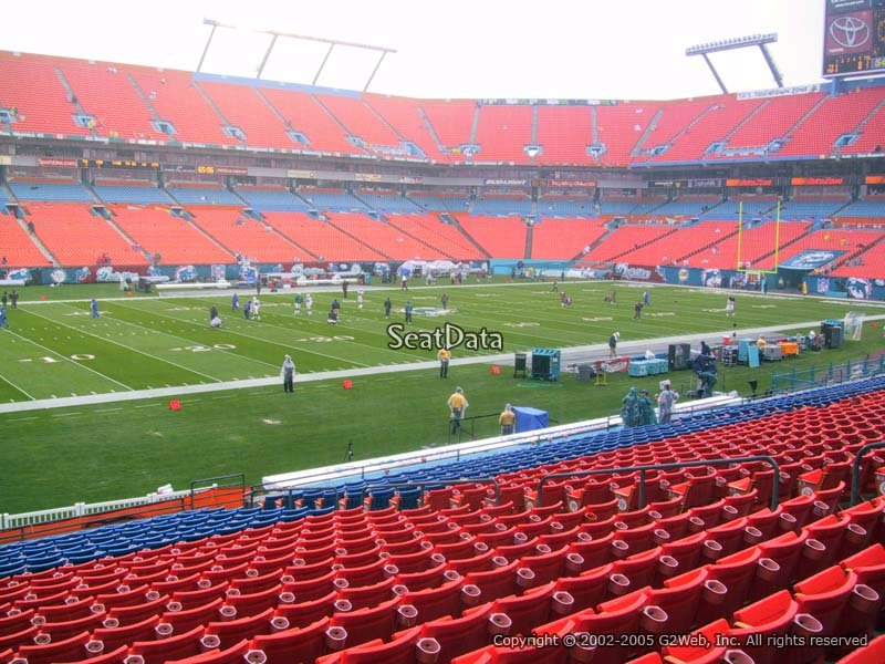 Sun Life Stadium Section 146 Seat View