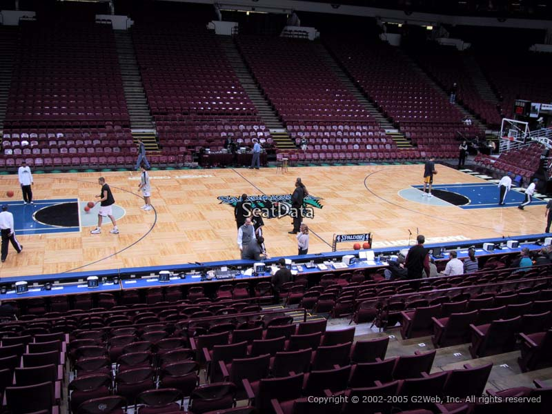 View from Section 132 Target Center