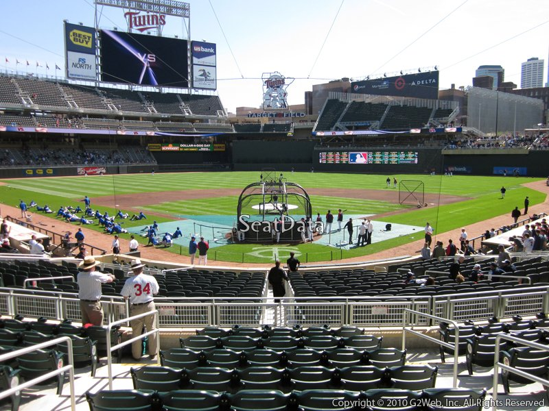 Minnesota Twins Target Field Seating Chart & Interactive Map ...
