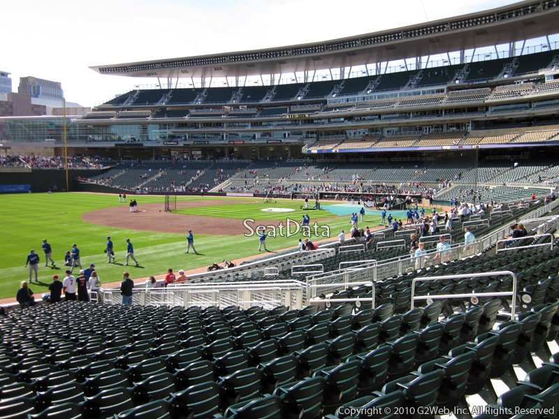 Target Field Section 124 Seat View