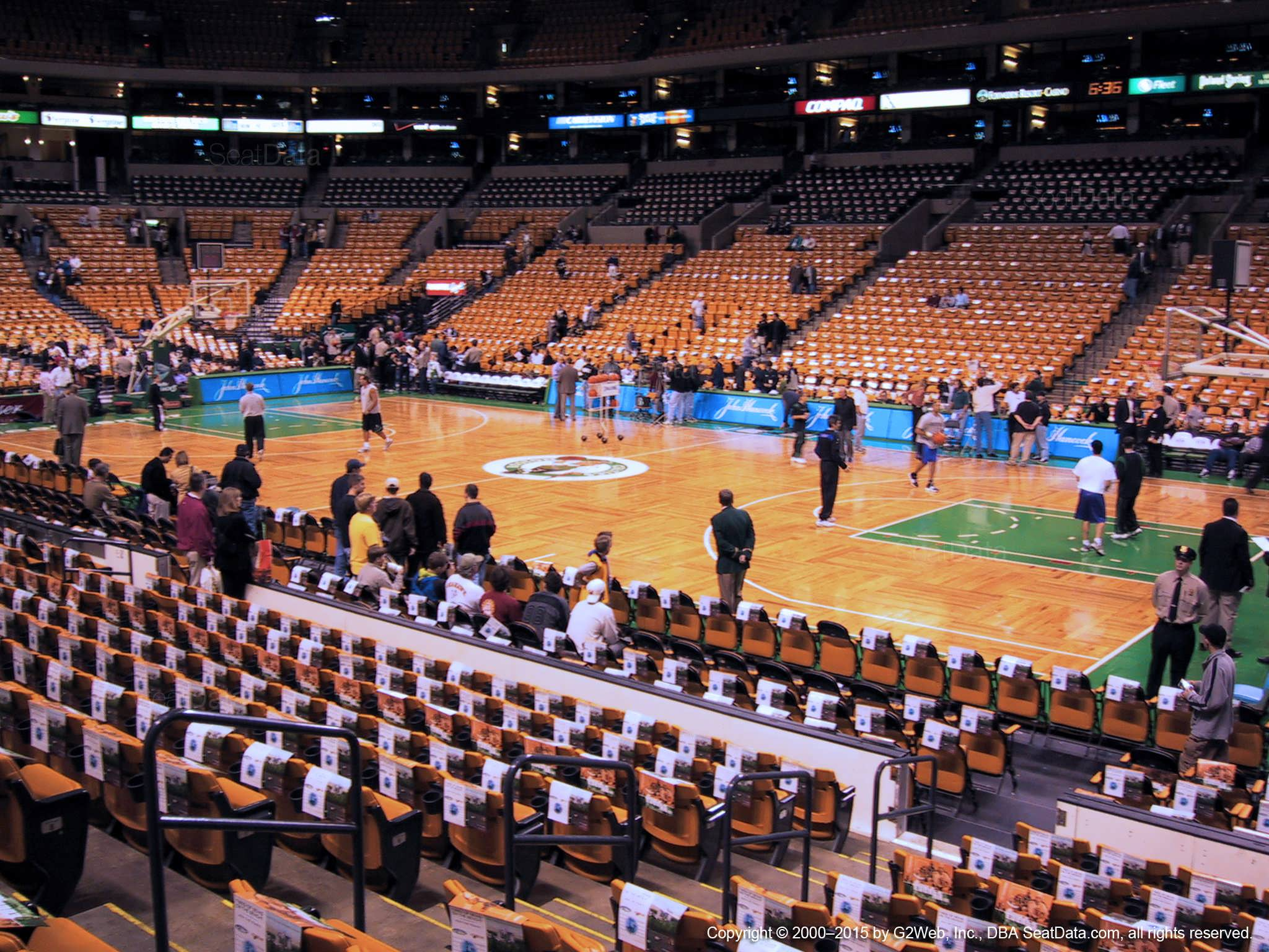 Boston Celtics Seat View for TD Garden Loge 10