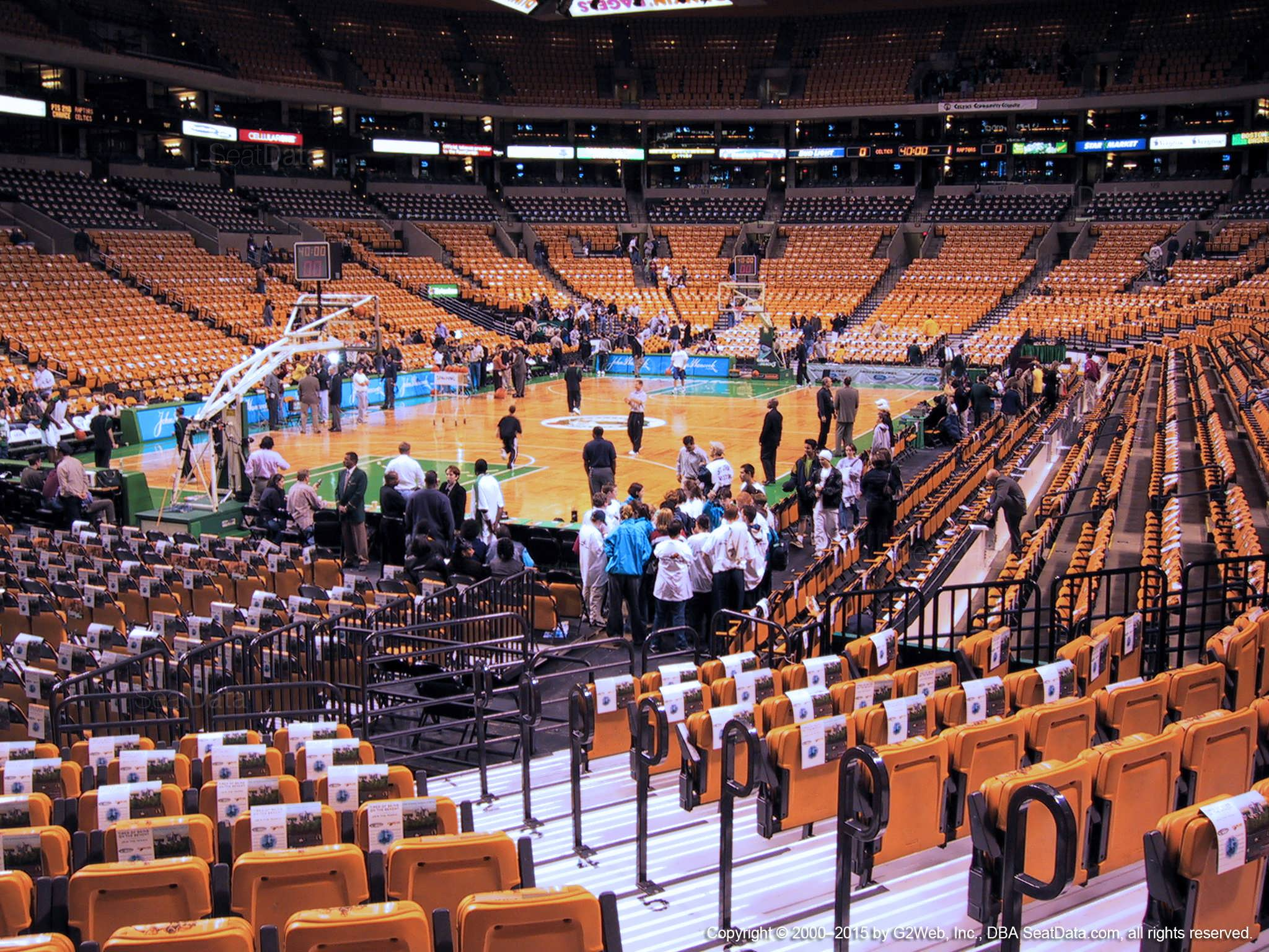 boston celtics seat view for td garden loge 16 - Td Garden Seating