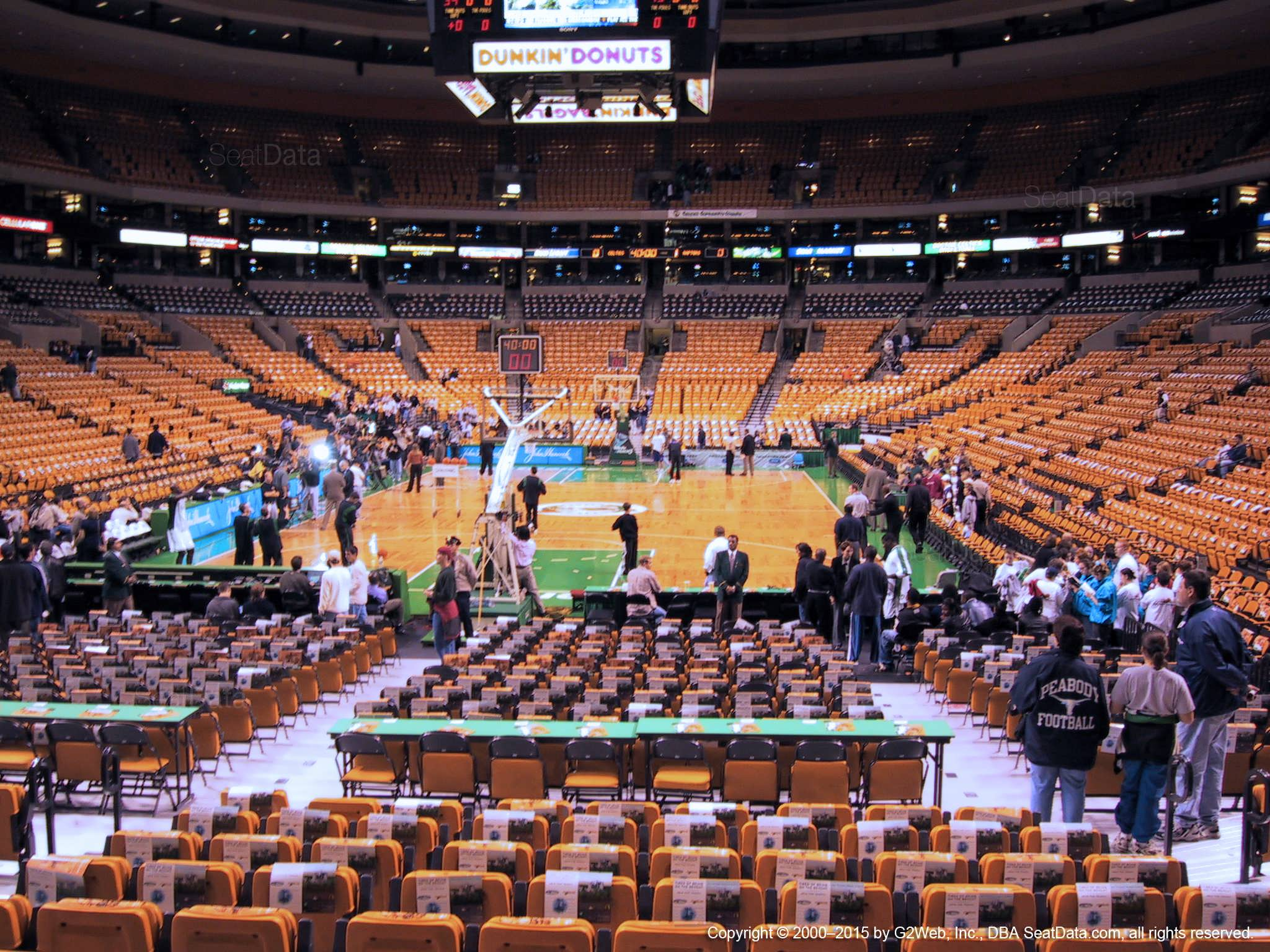 Boston Celtics Seat View for TD Garden Loge 17