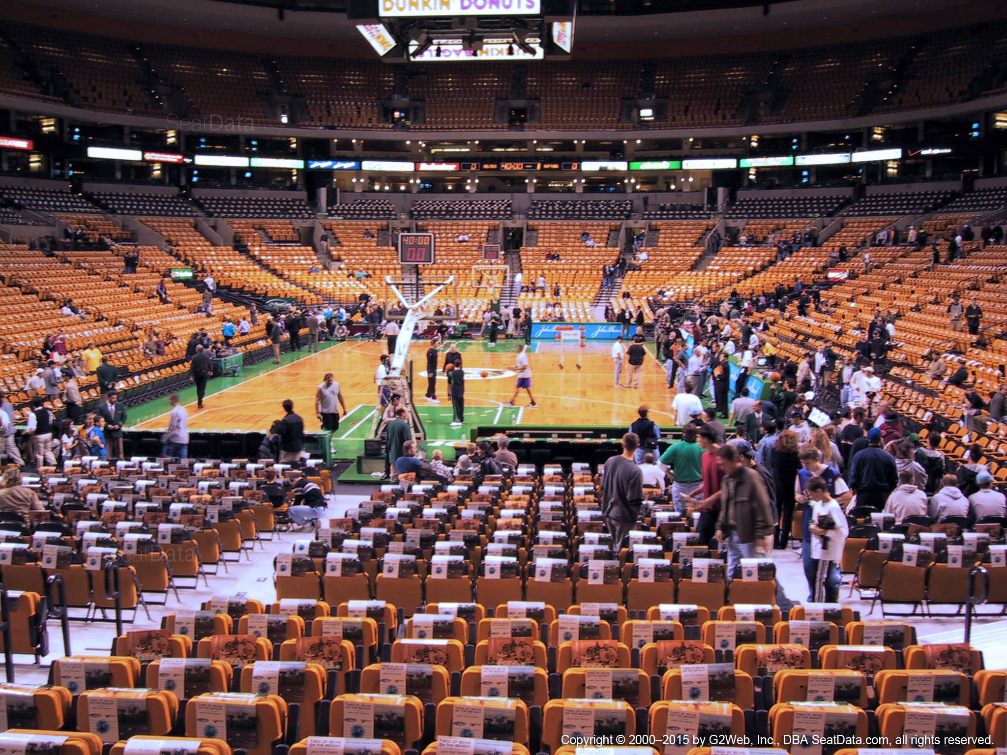 boston celtics seat view for td garden loge 6 - Td Garden Seating