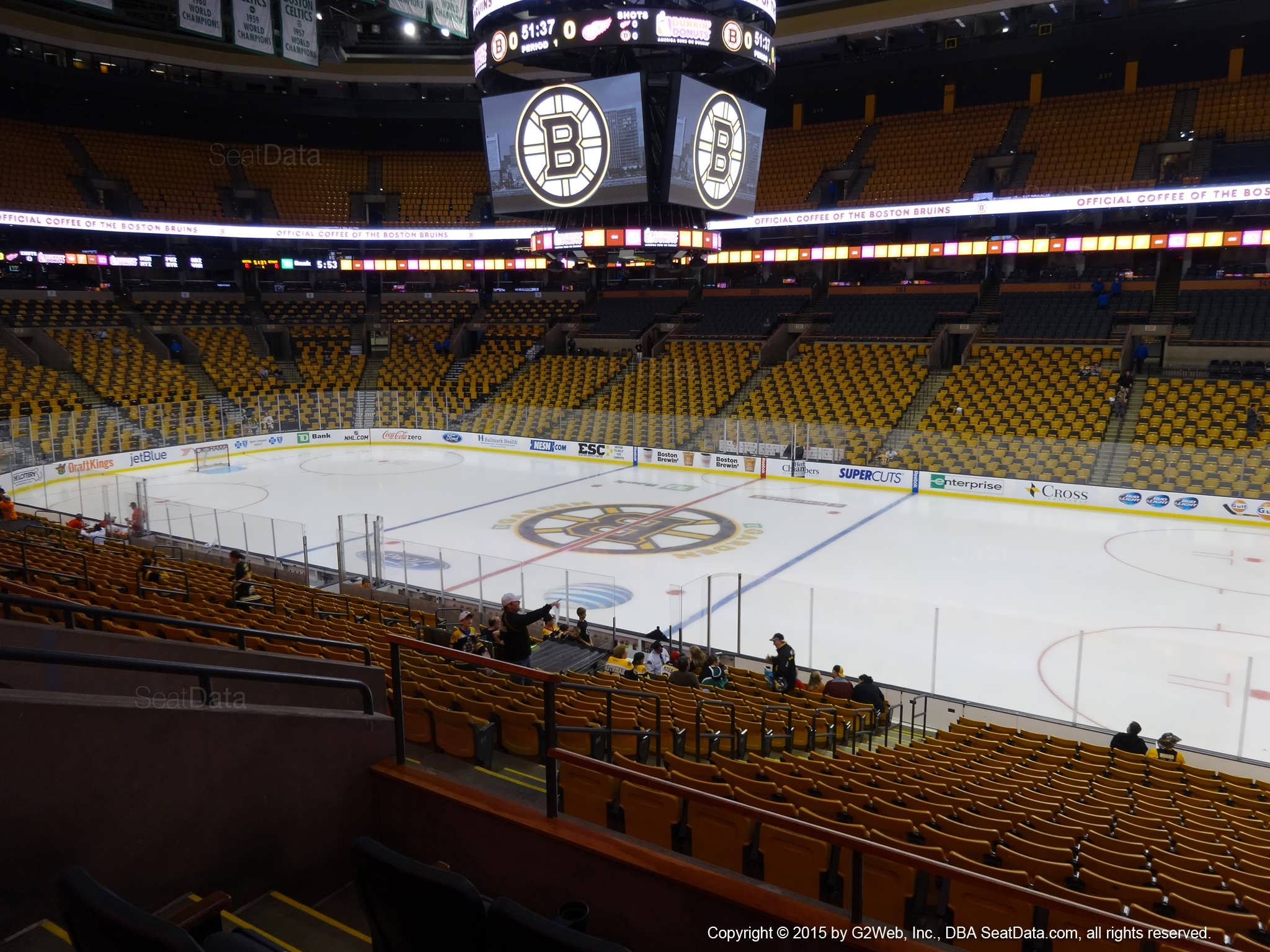 TD Garden Section 107 Boston Bruins RateYourSeats