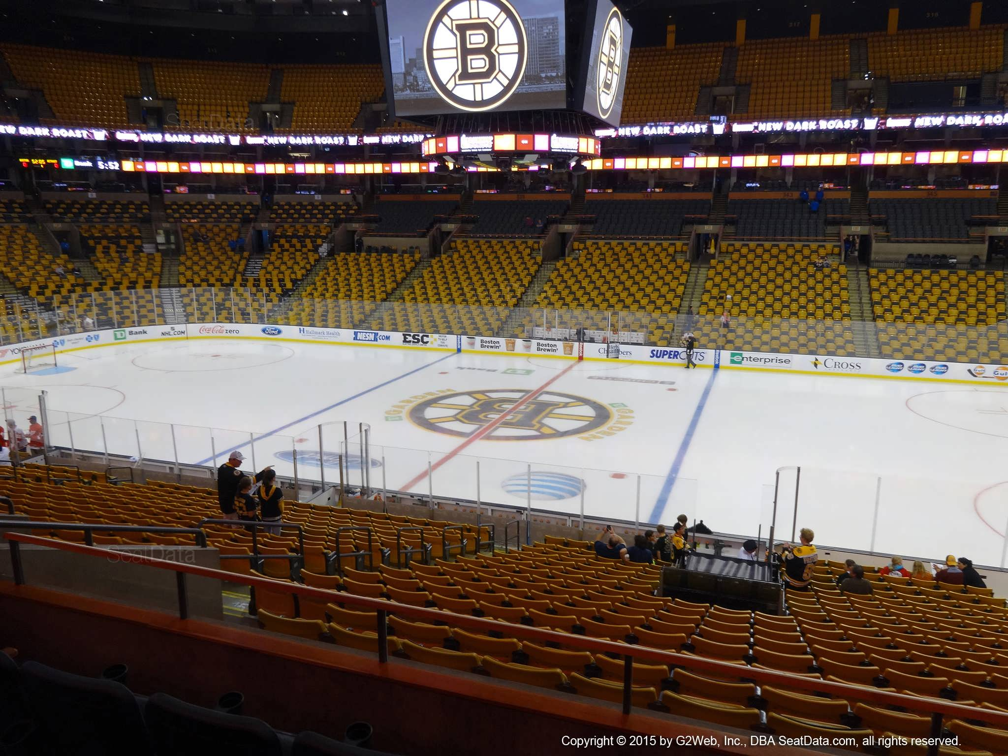 Boston Bruins Seat View for TD Garden Section 109